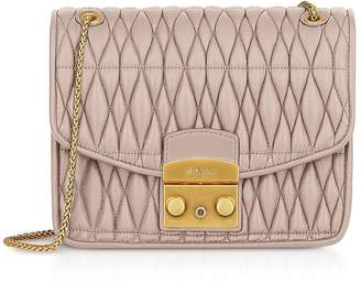 Furla Quilted Na Leather Metropolis Cometa S Crossbody W Chain Strap