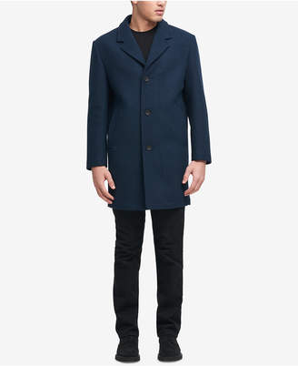 DKNY Men Big and Tall Tailored Topcoat