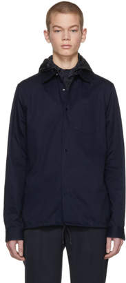 Valentino Navy Removable Hood Shirt