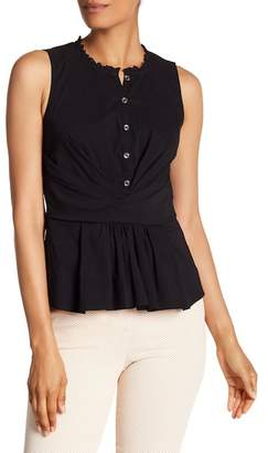 Rebecca Taylor Sleeveless Wrap Design Top