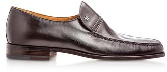 Moreschi Bonn Dark Brown Lambskin Loafer Shoes