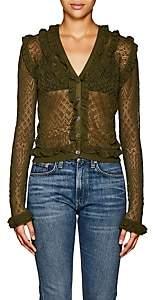 Altuzarra Women's Kozmic Pointelle Lace Cardigan - Pine