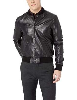 Joe's Jeans Men's Raffi Leather Bomber