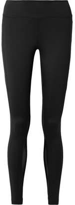 Nike Power Mesh-paneled Dri-fit Stretch Leggings