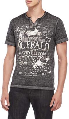 Buffalo David Bitton Black Burnout Tee