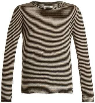 Etoile Isabel Marant Karon long-sleeved striped linen-blend T-shirt