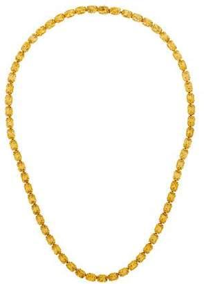H.Stern 18K Citrine Riviere Necklace