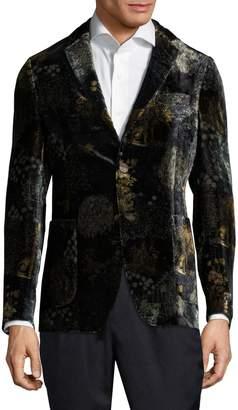 Etro Printed Velvet Cotton Jacket