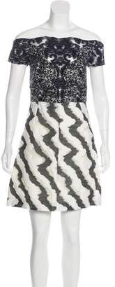 Michael Van Der Ham Jacquard Mini Dress