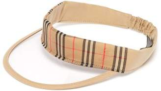 Burberry House Check Cotton Visor - Mens - Beige