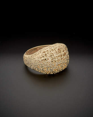Italian Gold 14K Textured Dome Ring
