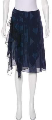 3.1 Phillip Lim Ruffle-Accented Knee-Length Skirt