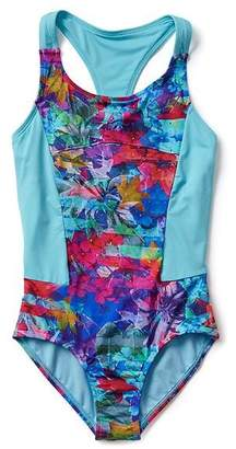 Athleta Girl Tropical Floral One Piece