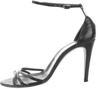 Balenciaga Lizard Ankle Strap Sandals
