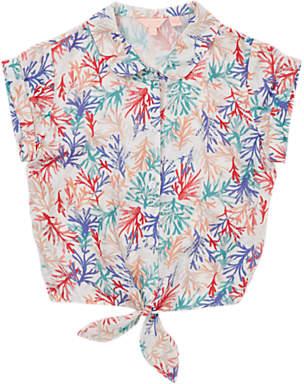 Jigsaw Girls' Coastal Reef Tie Shirt, Neutral