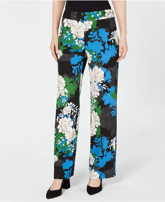 INC International Concepts I.n.c. Printed Wide-Leg Crepe Pants, Created for Macy's
