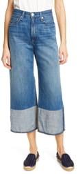 Rag & Bone Haru Reverse Cuff Wide Leg Crop Jeans