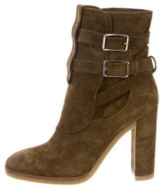 Gianvito Rossi Mid-Calf Buckle-Accented Boots