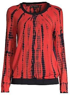 Donna Karan Women's Printed Long-Sleeve Top
