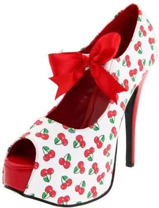 Pleaser USA Women's Teeze-25-3/W Ankle-Strap Sandal