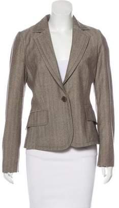 Valentino Herringbone Virgin Wool Blazer