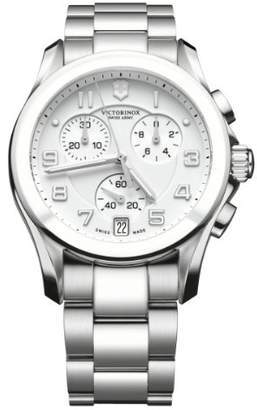 Victorinox Unisex 241538 Silver Chrono Classic with Ceramic Bezel Watch
