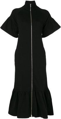 zipped cardigan dress