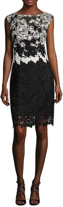 Kay Unger Women's Lace Cap Sleeves Cocktail Dress