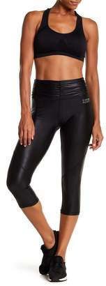 Bebe Ruched Capri Leggings