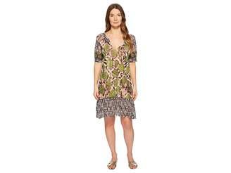 Fuzzi Patchwork T-Shirt Dress Women's Dress