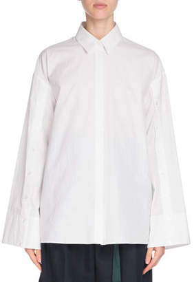 Kenzo Button-Front Flared Cotton Shirt