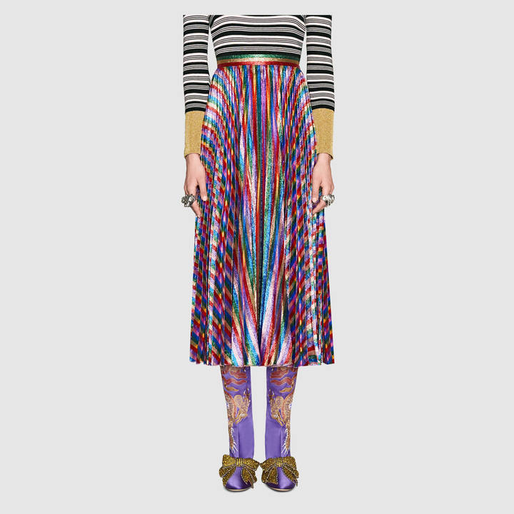 Iridescent pleated skirt 4