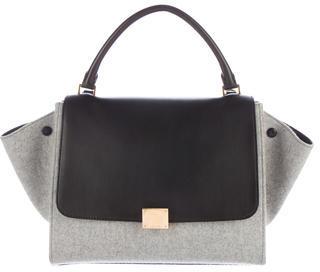 CelineCéline Medium Felt Trapeze Bag