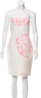 Giambattista Valli Strapless Floral Dress