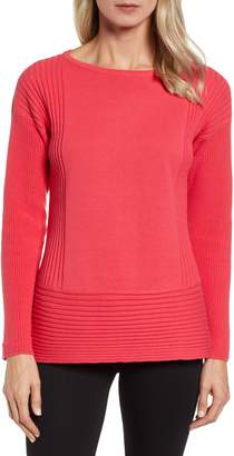 Chaus Ribbed Cotton Sweater