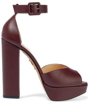Charlotte Olympia Textured-Leather Platform Sandals