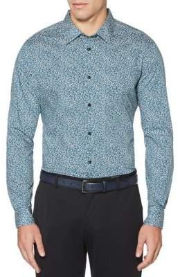 Perry Ellis Compact Floral-Print Button-Down Shirt