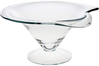 One Kings Lane Brynn Footed Serving Bowl - Clear