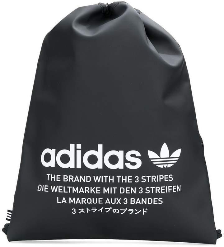 Adidas logo print drawstring backpack