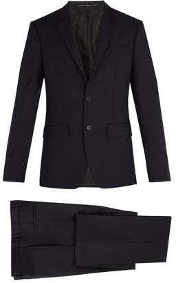 Givenchy Single Breasted Wool Suit - Mens - Navy