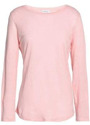 Claudie Pierlot Appliqued Slub Linen-jersey Top
