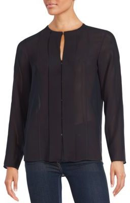 Sheer Long Sleeve Top $325 thestylecure.com