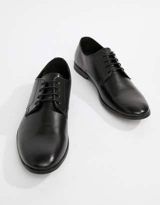 Asos Design Derby Shoes in Black Leather