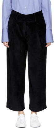 Studio Nicholson Navy Corduroy Bye Trousers