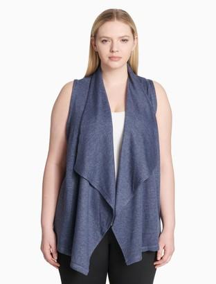 Calvin Klein plus size performance drape front vest