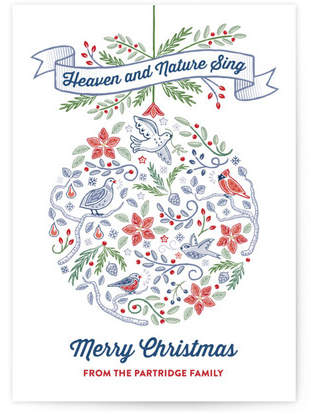 Heaven and Nature Sing Ornament Custom Selflaunch Stationery