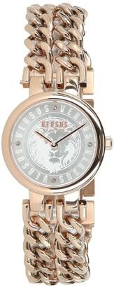 Versace Berlin Stainless Steel Chain Link Bracelet Watch