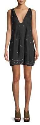 Free People Crushin On You Embellished Mini Dress