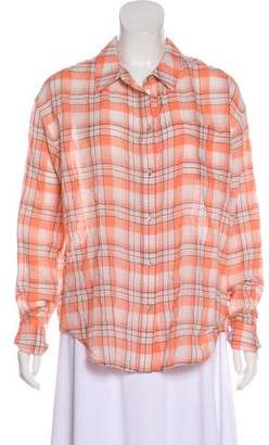 Elizabeth and James Oversize Plaid Top