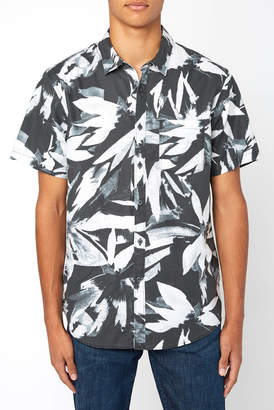 Billabong Sundays Floral Short Sleeve Button Down Shirt